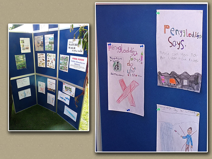 The information board and some of the Penygloddfa School posters.