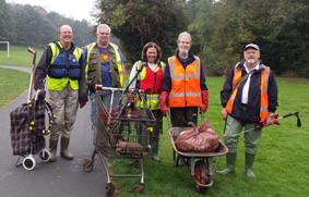 The team at the end of a successful clean up.